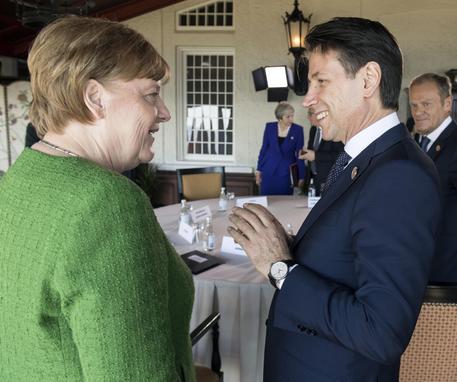 Giuseppe Conte con Angela Merkel