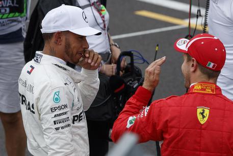 F1: Gp Francia, Hamilton in pole. Terza Ferrari Vettel © EPA