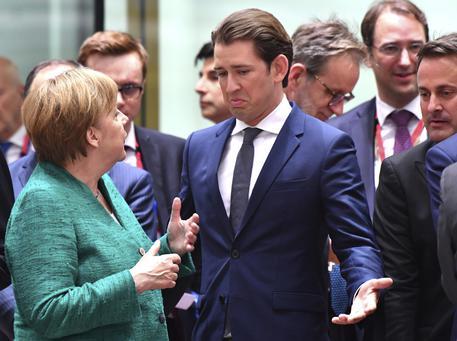 Sebastian Kurz e Angela Merkel (archivio) © AP