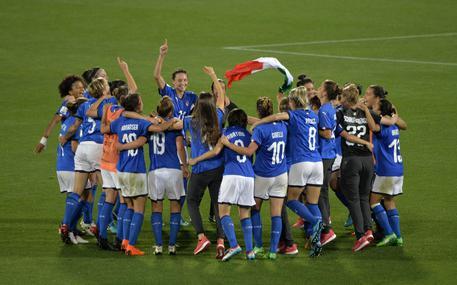 L'Italia femminile di calcio ha battuto 3-0 il Portogallo e si qualificata con un turno di anticipo al Mondiale © ANSA