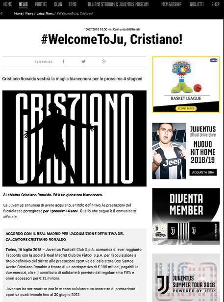 Ronaldo: lunedì CR7 day, show per tifosi 2d88f455d21d16ee2e2dadb2ed03660e