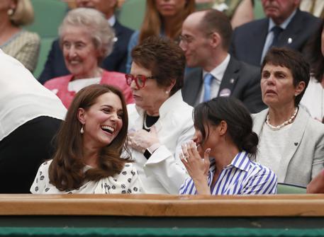 Meghan e Kate a Wimbledon senza i mariti