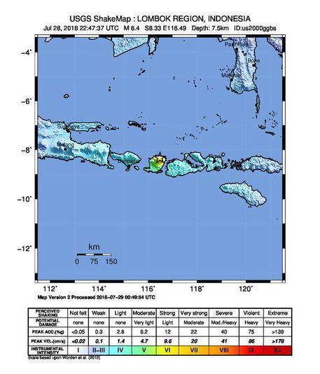 Indonesia, terremoto magnitudo 6,4 Almeno 10 le vittime, bloccati 500 escursionisti