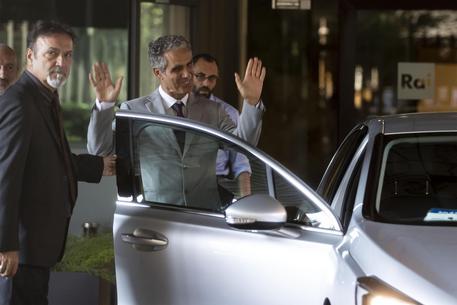 Marcello Foa lascia la sede Rai di viale Mazzini, Roma, 1 agosto 2018. ANSA/MASSIMO PERCOSSI © ANSA