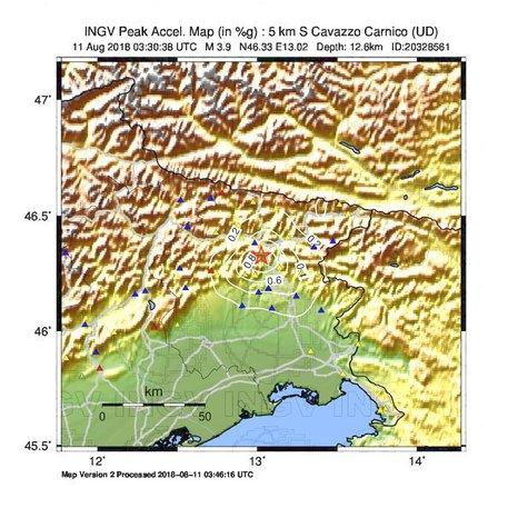 Terremoti: scossa magnitudo 3.9 a Cavazzo Carnico © ANSA
