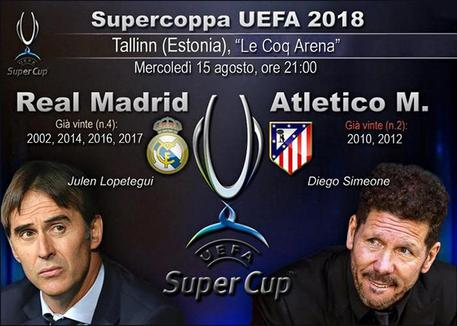 Supercoppa UEFA, Real Madrid-Atletico Madrid © ANSA