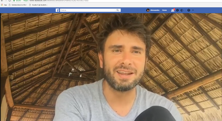 Un frame del video postato da Di Battista su Fb © Ansa