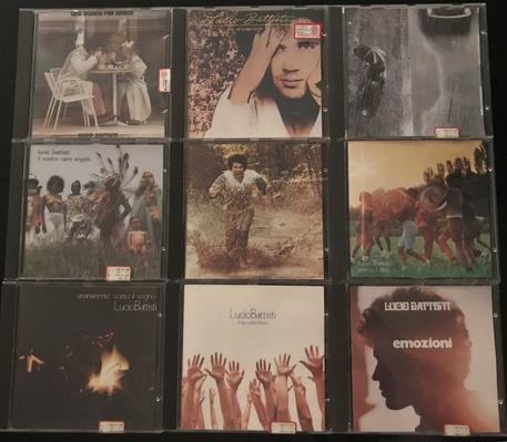 Le copertine di alcuni cd di Lucio Battisti