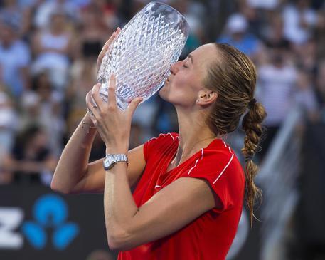 17:00 - Tennis: Sydney, vittoria per la ceca Kvitova