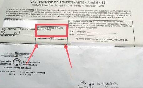 Bolzano, Asl chiede sul formulario la