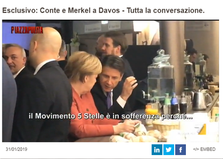 Fuorionda Conte a Merkel: