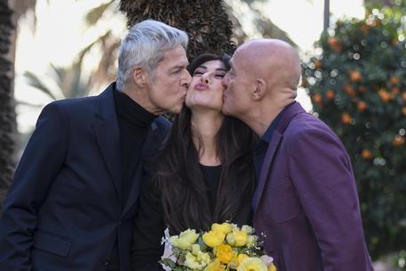 Claudio Baglioni, Virginia Raffaele e Claudio Bisio © ANSA