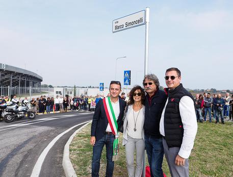 Inaugurata via Simoncelli a Misano