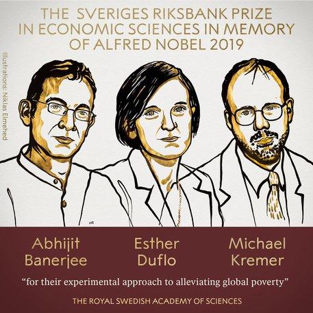Premi Nobel per l'Economia a Banerjee, Duflo e Kremer