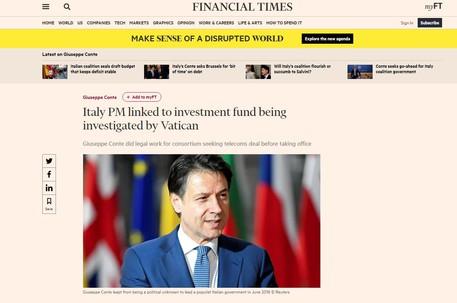 Ft, Conte lavorò su accordo fondo poi indagato dal Vaticano