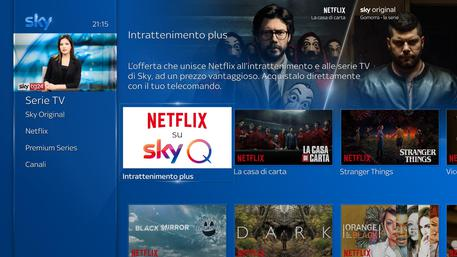 Netflix su Sky, come fare per vederla?