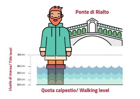 Venezia, interpretare la previsione di marea © ANSA
