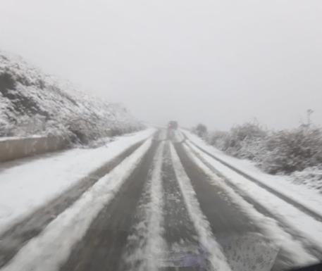 Maltempo: neve sul Gennargentu