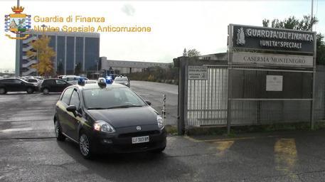Un fermo immagine del video della Guardia di Finanza sull'operazione sugli appalti © ANSA
