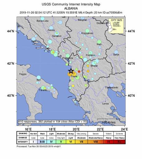Terremoto in Albania, altre scosse: sale il bilancio dei morti