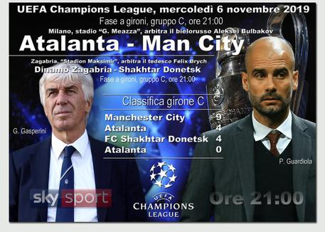 Champions, dove vedere Atalanta Manchester City in Tv e streaming