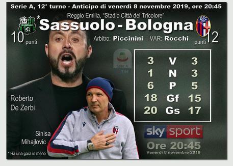 3-1 al Bologna, il derby al Sassuolo - Emilia-Romagna