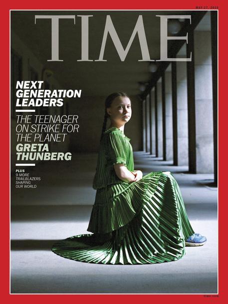 Greta Thunberg 'Persona dell'Anno' di Time 2019 © ANSA