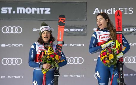 Federica Brignone e Sofia Goggia (a destra) © EPA
