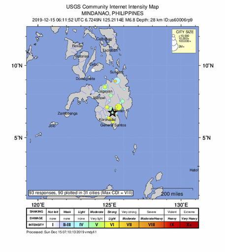 Terremoto di magnitudo 6.8 nelle Filippine: quattro morti