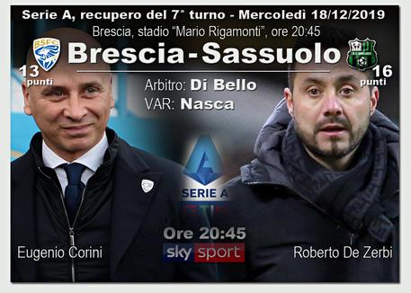 Brescia-Sassuolo 0-2, Traorè e Caputo stendono Corini. De Zerbi può sorridere