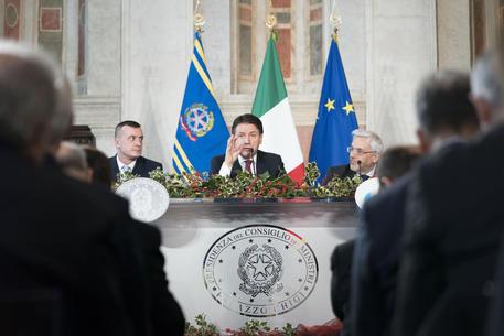 La conferenza stampa di fine anno del premier Giuseppe Conte © ANSA