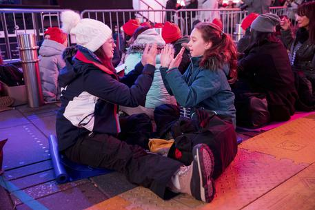 The Worlds Big Sleep Out in Times Square 2019 © AP