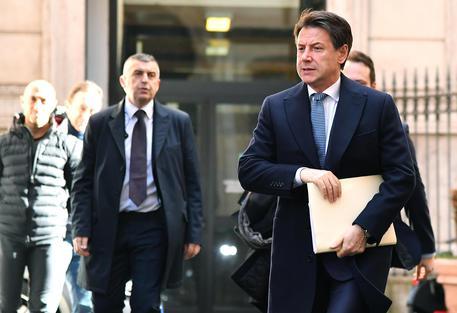 Il presidente del Consiglio, Giuseppe Conte, arriva al Rome Investment Forum 2019 © ANSA