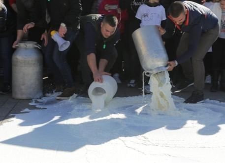 Latte, protesta degli allevatori nell'ennese$