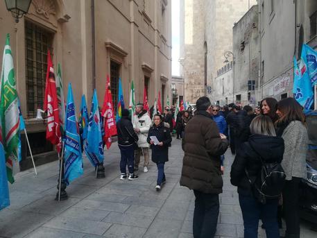 Protesta addetti Università Cagliari