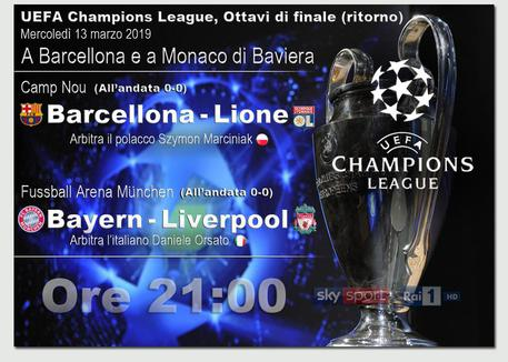Champions: Liverpool e Barcellona ai quarti
