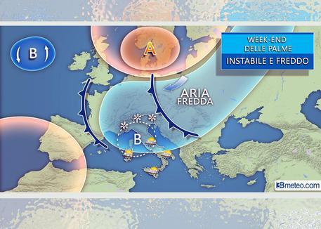 La previsione di 3Bmeteo © ANSA
