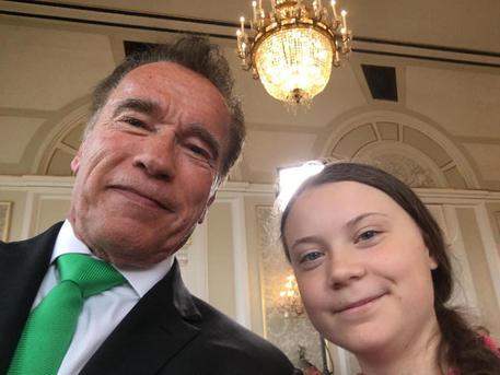Il gigante e la bambina: Greta e Schwarzenegger contro il cambiamento climatico
