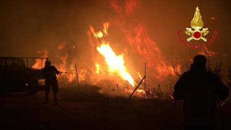 Incendio Siniscola © ANSA