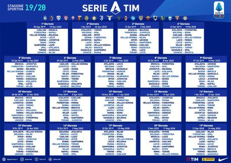Calendario Pescara Calcio 2020.Calendario Serie A Partenza Con Il Botto Juve Napoli Gia