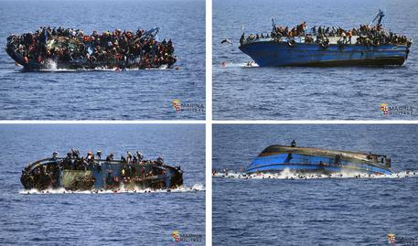 Barca rovesciata al largo della Libia, si teme una strage