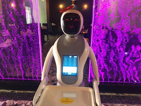Cameriera-robot in un sushi-bar Cagliari