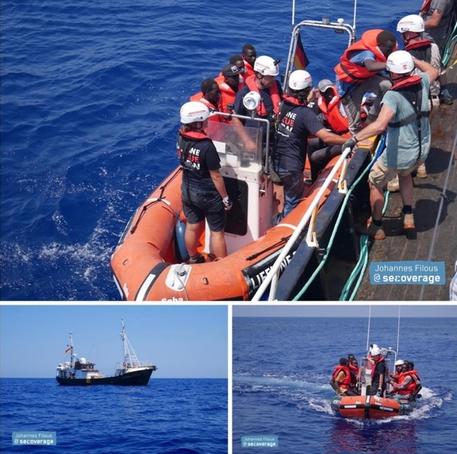 La nave Eleonore della Ong Lifeline