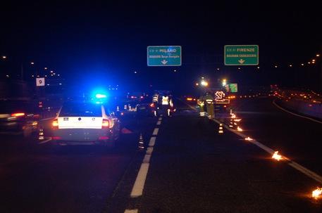 Incidente su A14  a Borgo Panigale. Foto Polstrada Bologna © Ansa