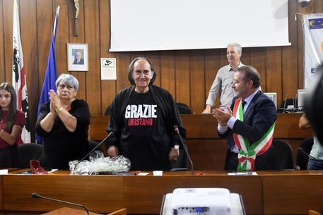 Oristano,Gavino Sanna cittadino onorario