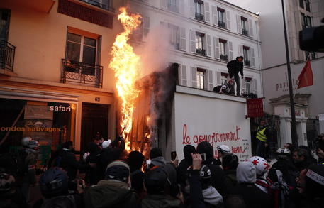 National day protest in France © EPA