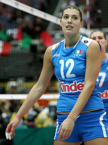 Francesca Piccinini con la maglia della Nazionale in una foto del 2006 © ANSA