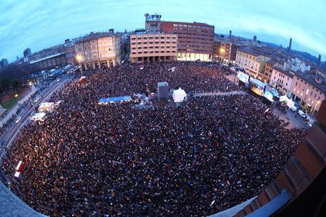 Un panoramica dall'alto della manifestazione © ANSA