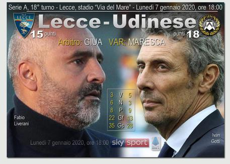 Serie A Lecce Udinese