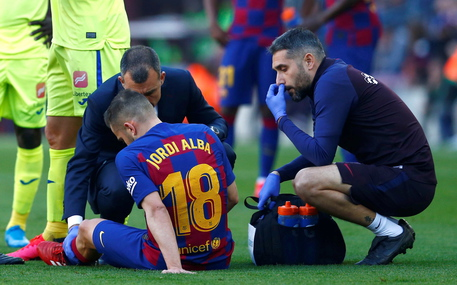 Barcellona, tegola Jordi Alba: out dopo 20′